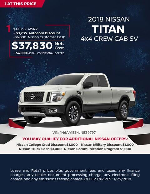 2018 NISSAN TITAN 4X4 CREW CAB SV