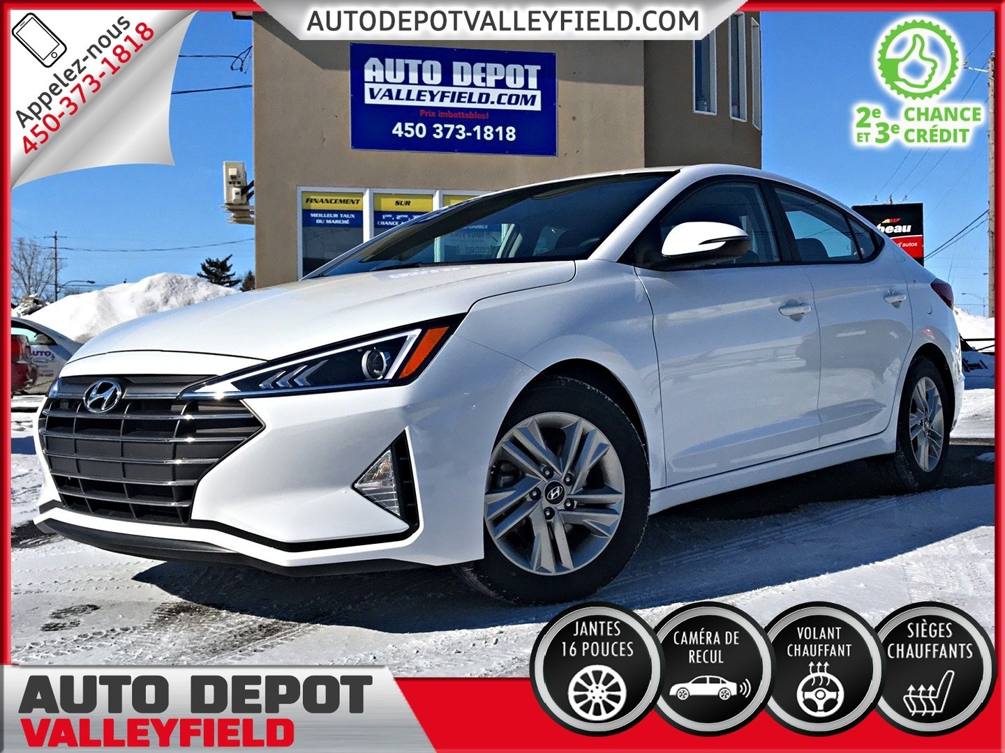 2019 Hyundai Elantra Prefered + Mags, Cruise, Camera Berline