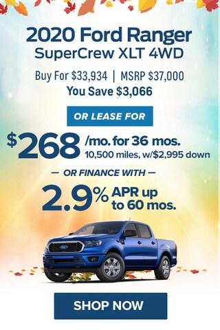 2020 Ford Ranger SuperCrew XLT 4WD