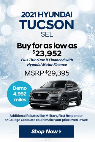 2021 Hyundai Tucson SEL Demo