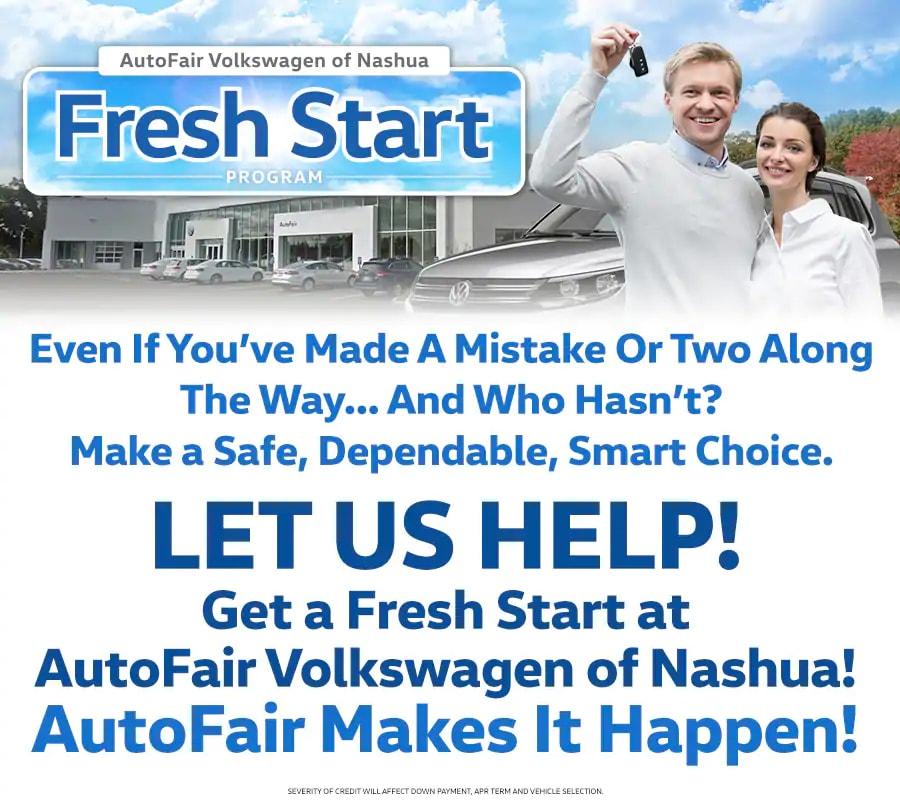 Volkswagen Dealers In Maine: Fresh Start Car Loans In Merrimack NH 03054