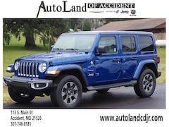New Chryser Dodge Jeep RAM 2018 Jeep Wrangler UNLIMITED SAHARA 4X4 Sport Utility for sale in Accident, MD