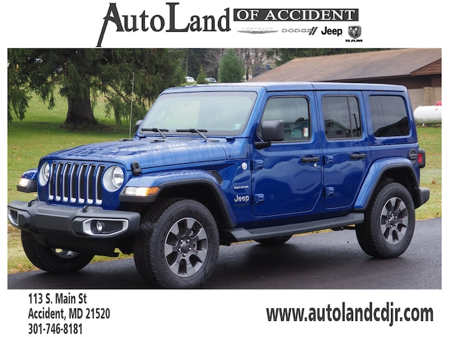New 2018 Jeep Wrangler UNLIMITED SAHARA 4X4 Sport Utility for Sale in Accident, MD
