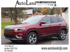 New 2019 Jeep Cherokee LIMITED 4X4 Sport Utility for sale in Accident, MD