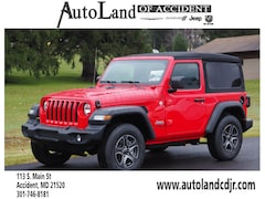 New 2018 Jeep Wrangler SPORT S 4X4 Sport Utility for sale in Accident, MD