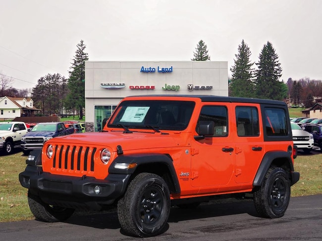 New 2018 Jeep Wrangler UNLIMITED SPORT 4X4 Sport Utility for Sale in Accident, MD