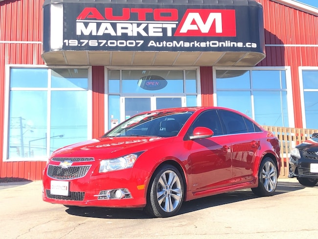 2013 Chevrolet Cruze LT Turbo RS, Leather, Sunroof, WE APPROVE ALL CRED Sedan
