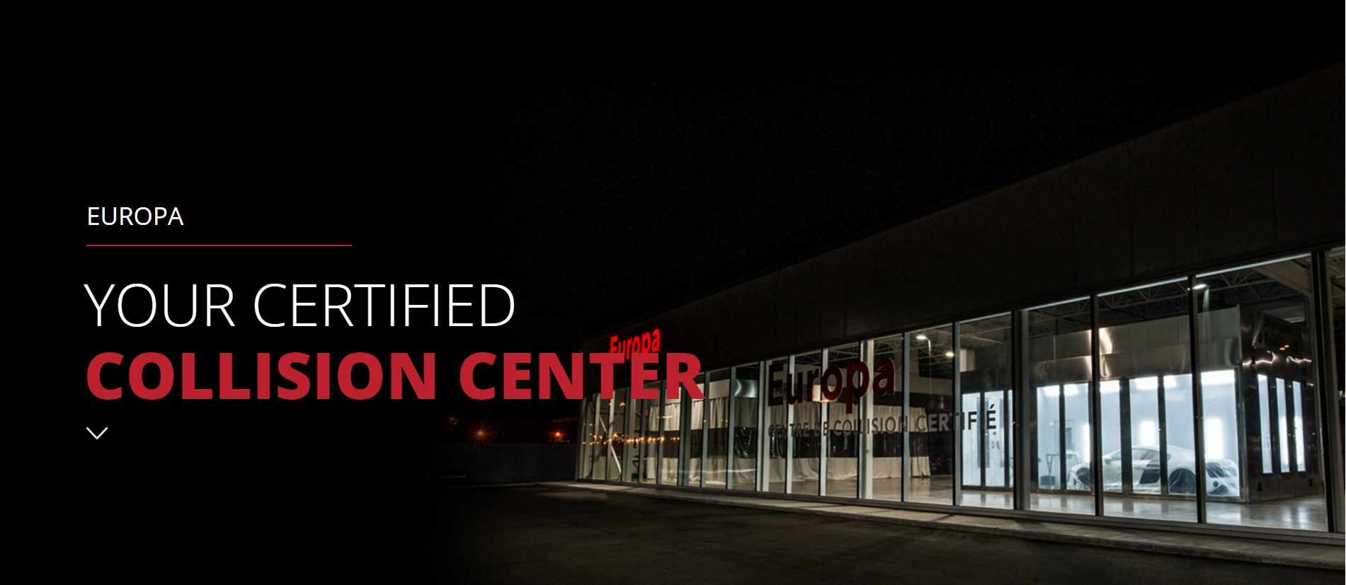 Europa Certified Collision Center in Laval, near Montreal