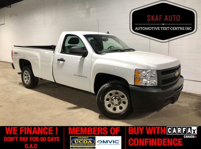 2013 Chevrolet Silverado 1500 LONG BOX! 4X4! V8! ONE OWNER! WE FINANCE! Regular Cab