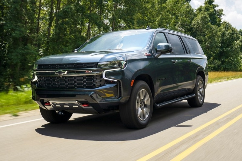 Exterior view of the 2021 Chevrolet Suburban