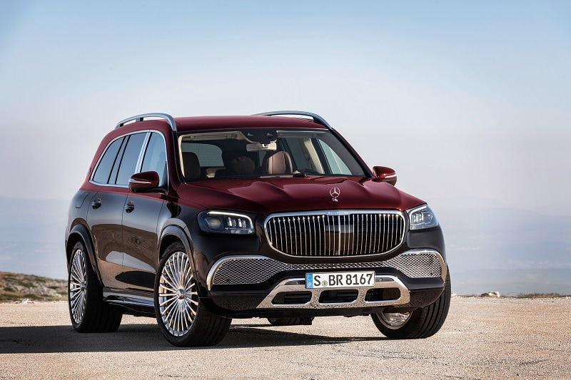 Exterior view of the 2021 Mercedes-Maybach GLS 600