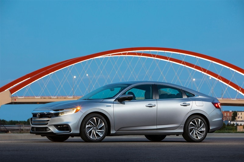 Exterior view of the 2021 Honda Insight