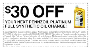 Pennzoil Oill Change Discount