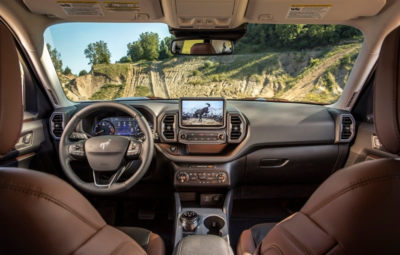 Interior view of the 2020 Ford Ford Bronco Sport