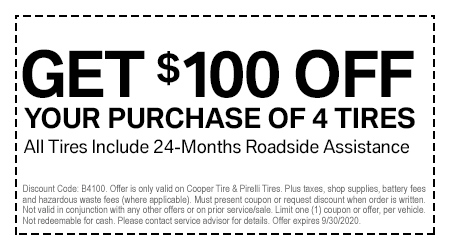 Lux Eastern $100 Off Tires