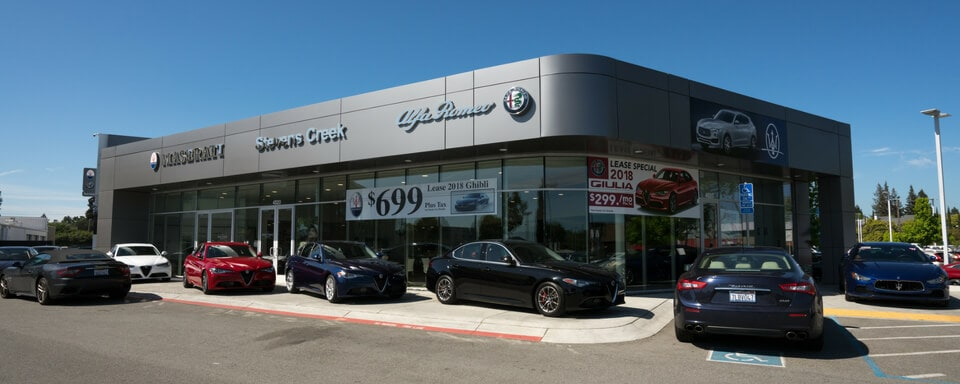 Exterior view of Alfa Romeo Stevens Creek