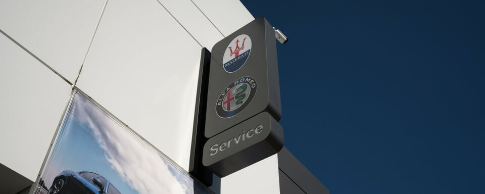 Alfa Romeo Stevens Creek service center sign