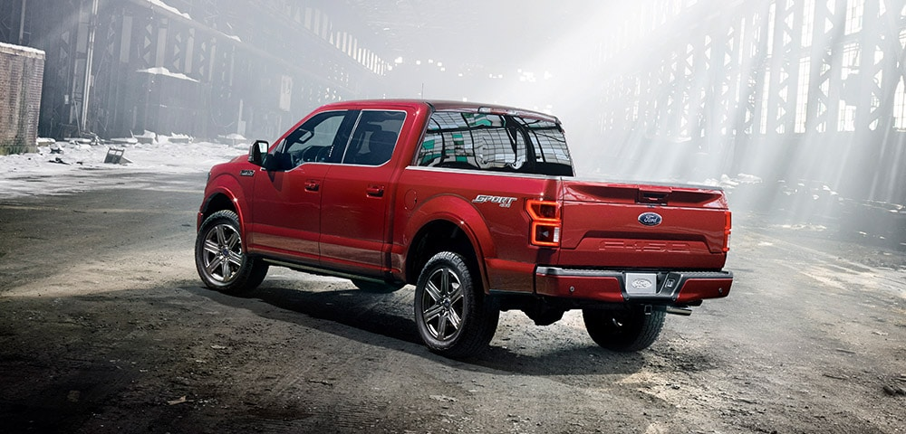 2018 Ford F-150 rear 3/4 view