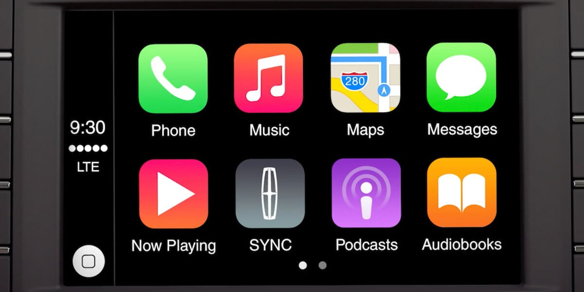 Apple CarPlay screen new Lincoln