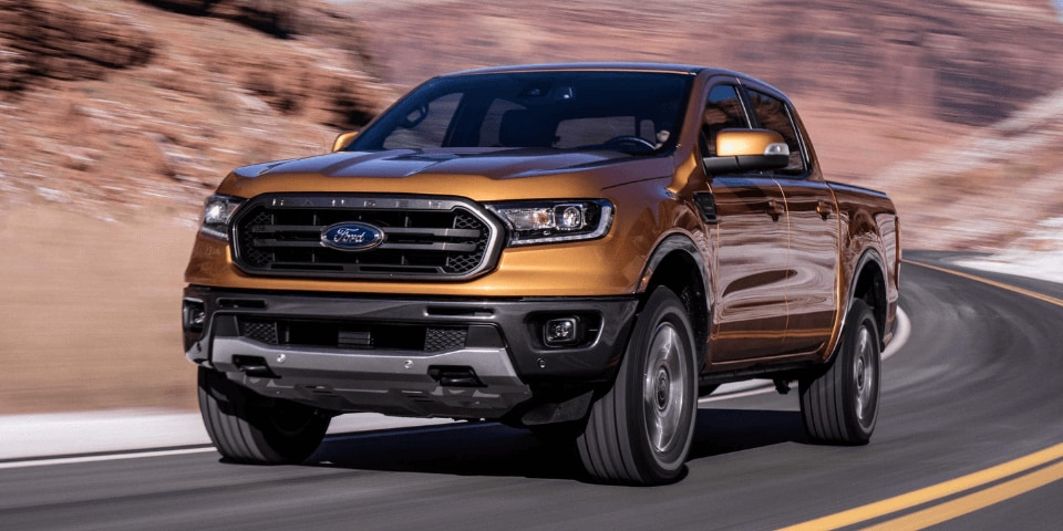 2019 Ford Ranger front 3/4 view