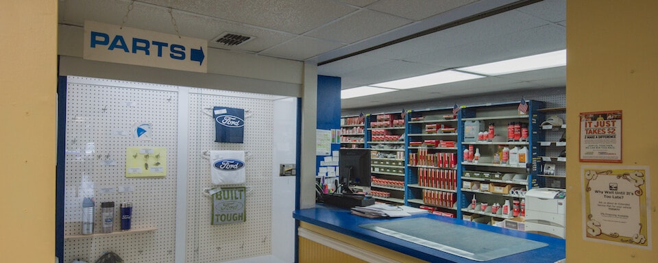 Parts counter at AutoNation Ford Brooksville
