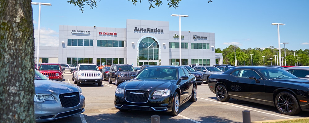 Exterior view of Autonation Chrysler Dodge Jeep Ram Mobile during the day