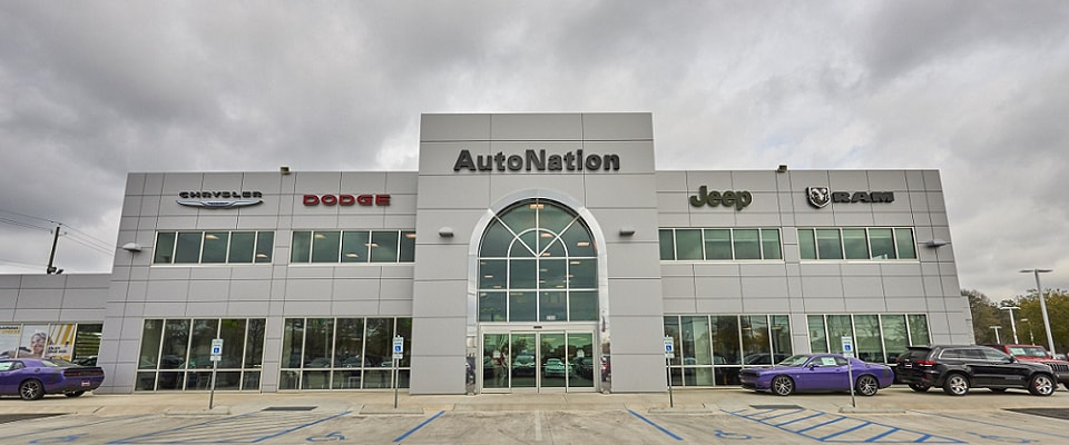 Exterior view of AutoNation Chrysler, Dodge, Jeep, RAM Mobile serving Mobile