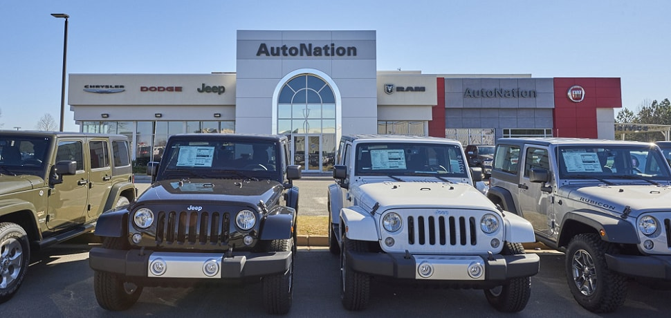 Outside view of Autonation Chrysler Dodge Jeep Ram And FIAT Columbus