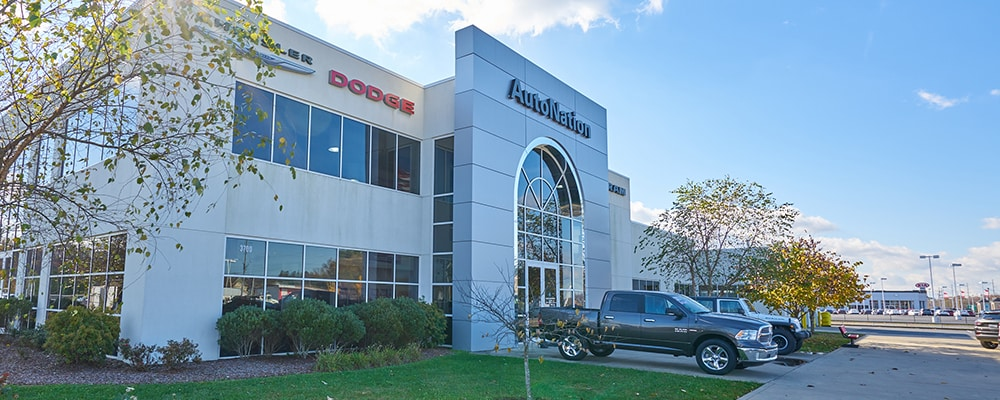 Exterior view of AutoNation Chrysler Dodge Jeep RAM & FIAT Johnson City during the day