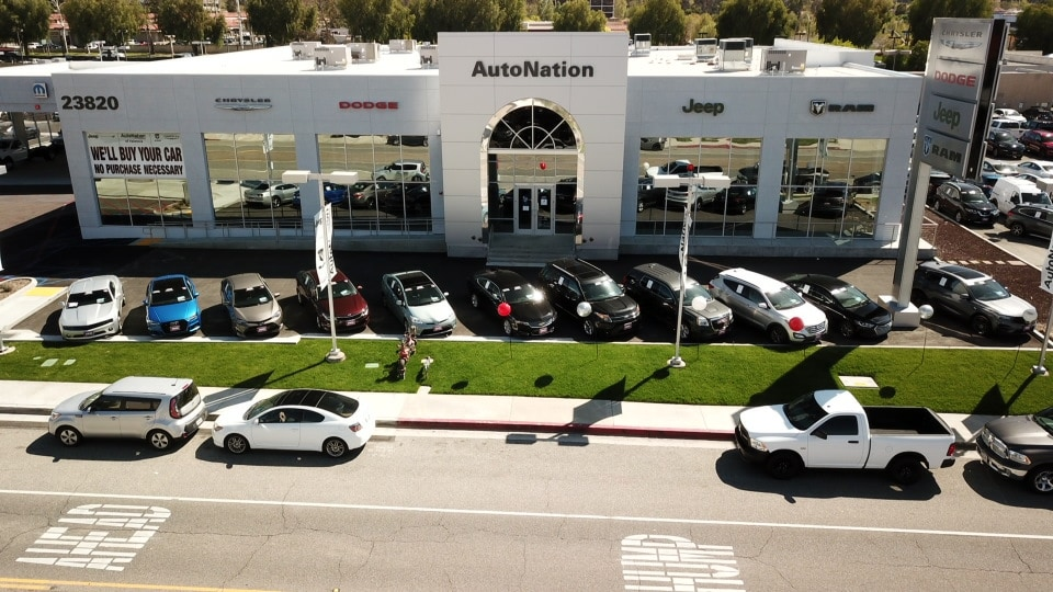 aerial shot of Autonation Chrysler Dodge Jeep Ram Valencia