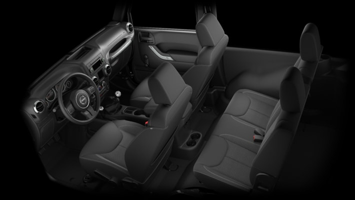 Features The BLACK Interior With Cloth And Sport Mesh Seats.