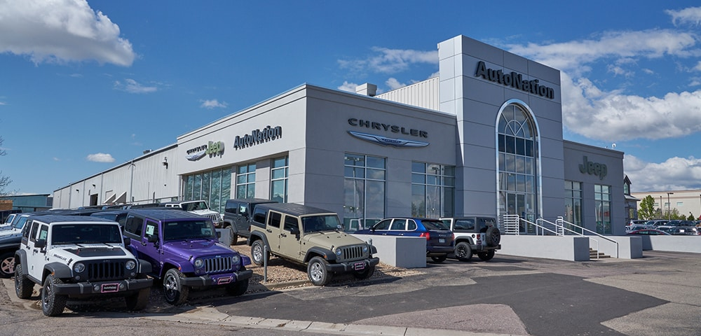 Exterior view of Autonation Chrysler Jeep Arapahoe serving Denver