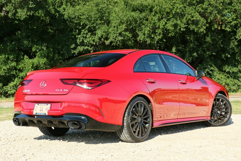View of the 2020 Mercedes-AMG CLA 35 exterior body