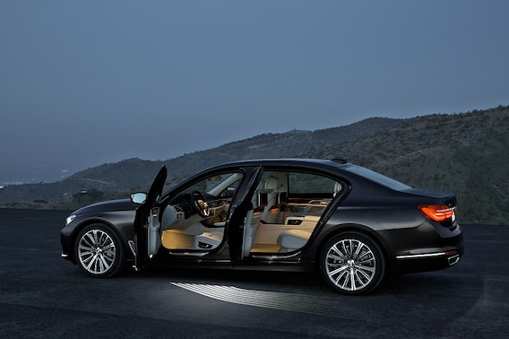 BMW 7 Series with doors open