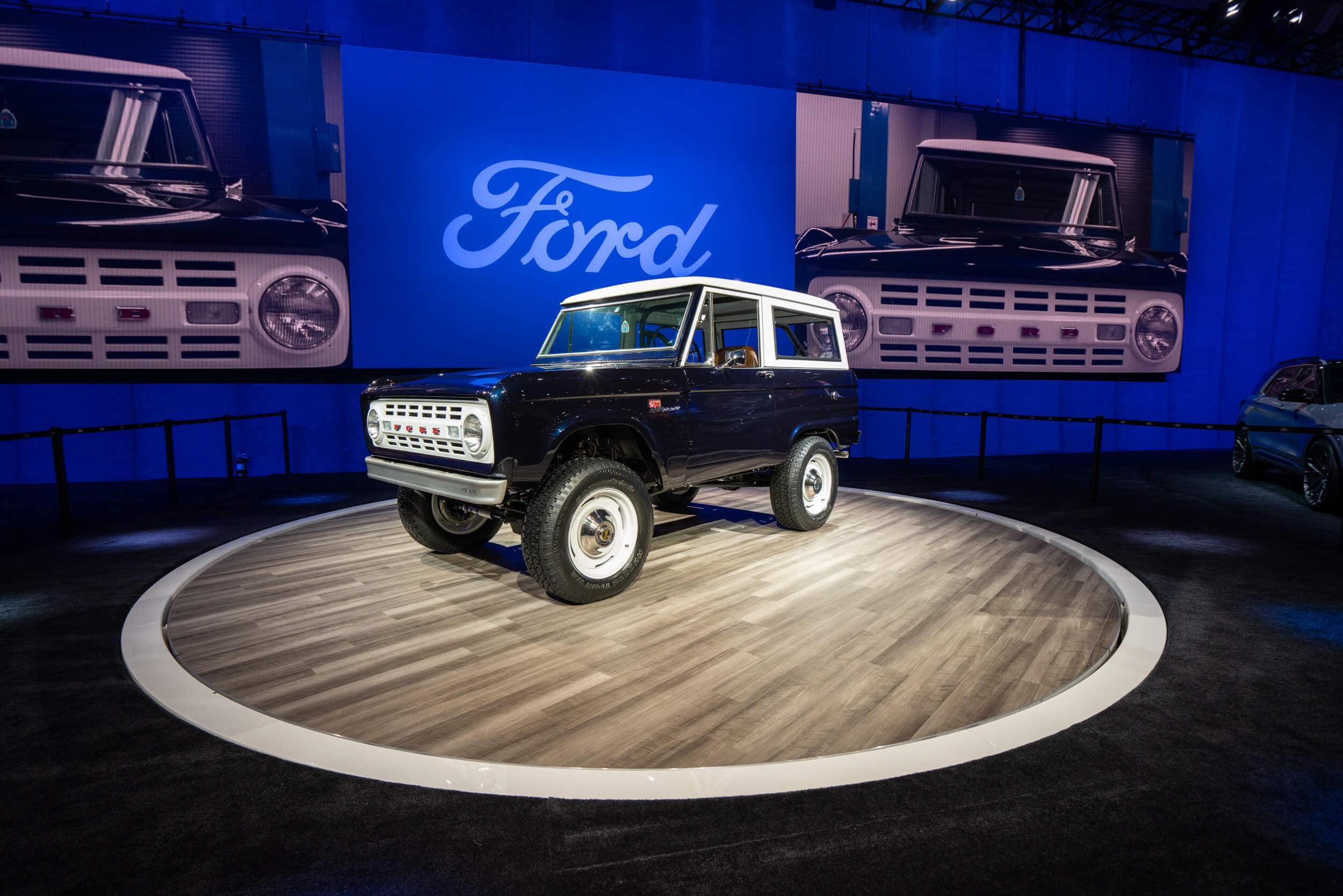 A first-gen Ford Bronco on hand at SEMA 2019.