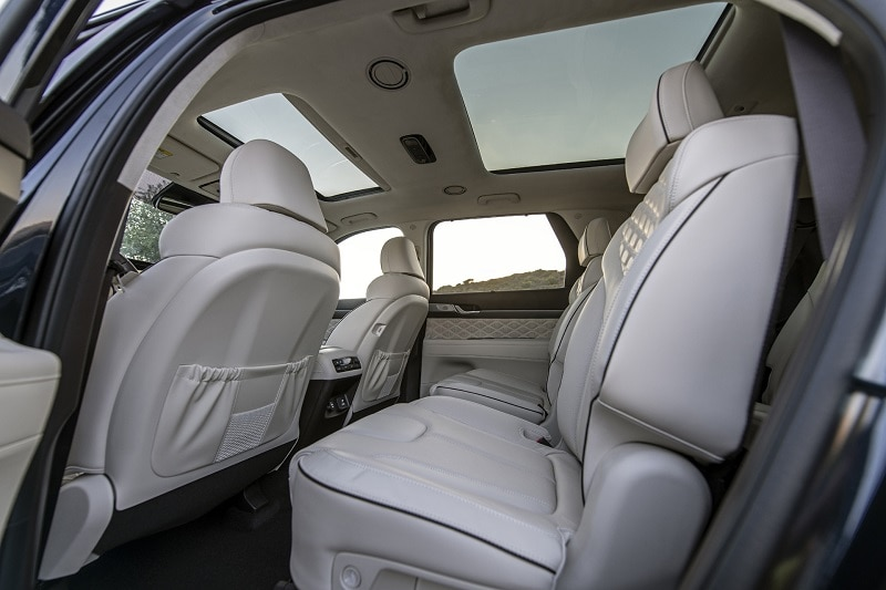Cabin view of the Hyundai Palisade