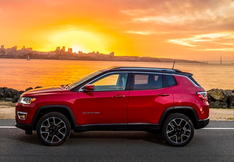 Exterior shot of the Jeep Compass