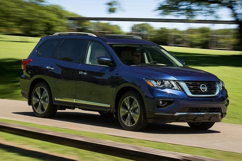 Nissan Pathfinder is a solid choice among midsize crossover SUVs. But you have to get the Platinum trim for rear-seat entertainment.