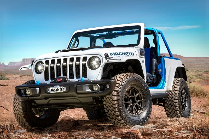 Exterior view of the Easter Jeep Safari Magneto Concept