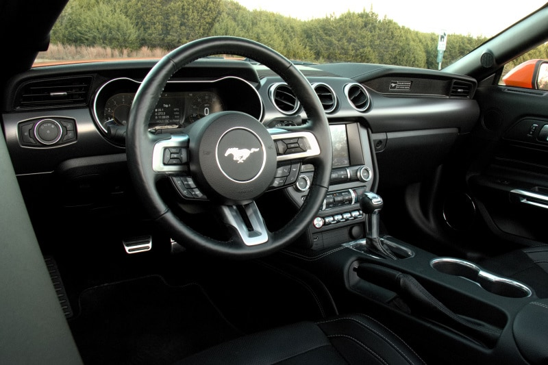 Interior view of the 2020 Ford Mustang EcoBoost Premium Convertible