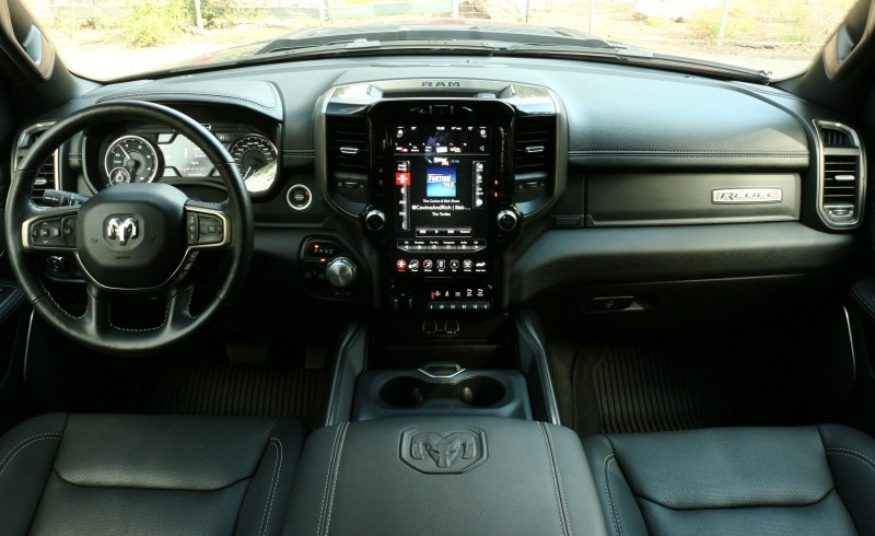 Interior view of the 2020 RAM 1500 Rebel EcoDiesel