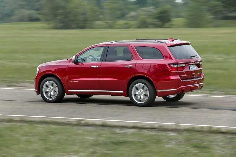 The Dodge Durango and Jeep Grand Cherokee are built off the same platform, so either is a great pick for a capable winter vehicle.