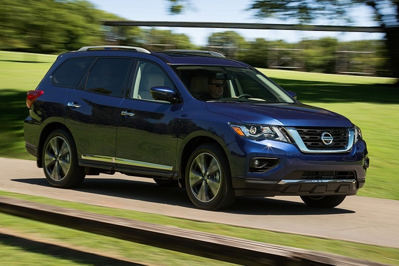 Exterior view of the Nissan Pathfinder