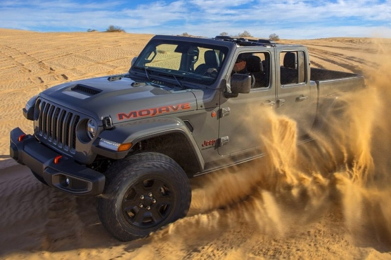 the Gladiator is Jeep's first-ever Desert Rated model