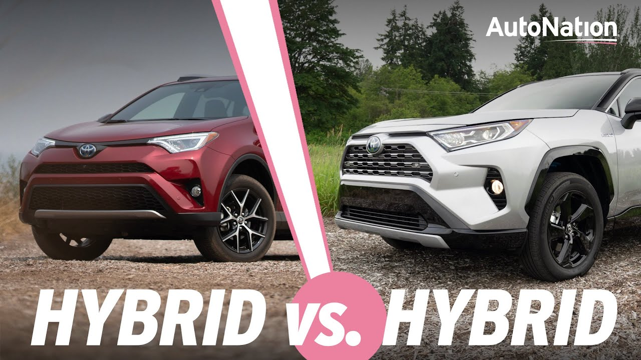 Image composition of the 2019 Toyota RAV4 Hybrid vs 2018 Toyota RAV4 Hybrid