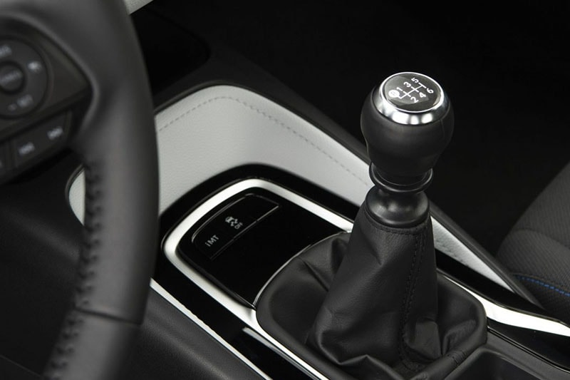 Interior view of gear stick in Toyota Corolla