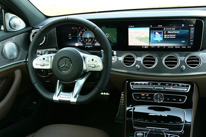 Interior of 2019 Mercedes-AMG E 63 S