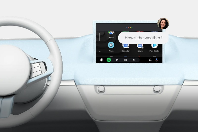 Screenshot of an Android Auto feature