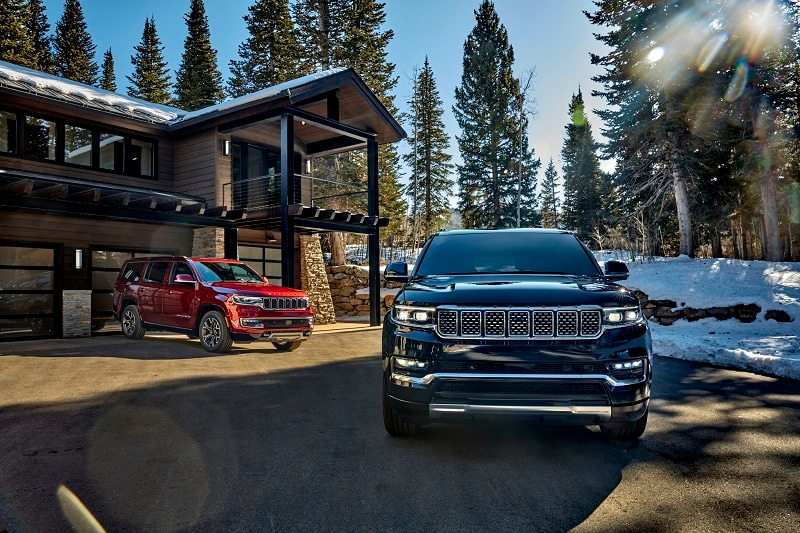 Exterior view of the 2022 Jeep Wagoneer