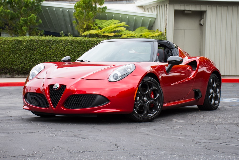 Exterior view of the 2018 Alfa Romeo 4c Spider